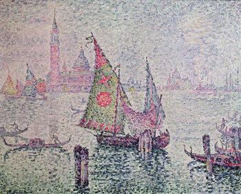 Reprodução do quadro The Green Sail, Venice, 1904