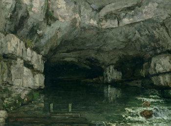 Reprodução do quadro The Grotto of the Loue, 1864
