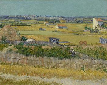 Reprodução do quadro The Harvest, 1888