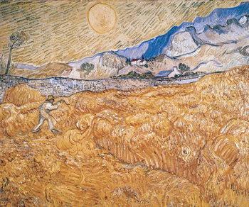 Reprodução do quadro The Harvester