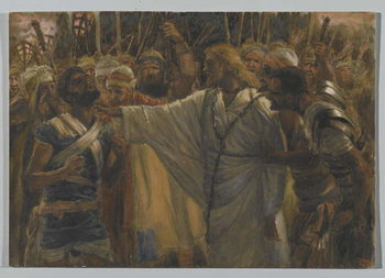 Reprodução do quadro The Healing of Malchus, illustration from 'The Life of Our Lord Jesus Christ', 1886-94