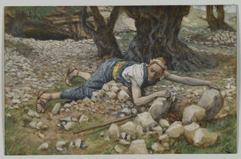 Reprodução do quadro The Hidden Treasure, illustration from 'The Life of Our Lord Jesus Christ'