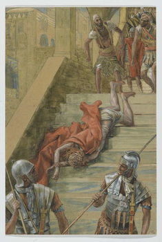 Reprodução do quadro The Holy Stair, illustration from 'The Life of Our Lord Jesus Christ', 1886-94
