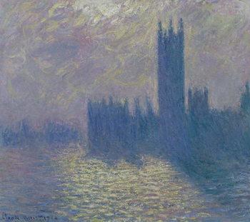 Reprodução do quadro The Houses of Parliament, Stormy Sky, 1904