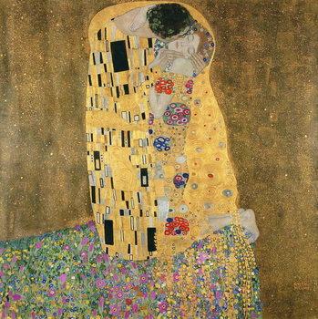 Reprodução do quadro The Kiss, 1907-08
