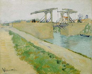 Reprodução do quadro The Langlois Bridge, March 1888