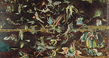 Reprodução do quadro The Last Judgement, c.1504 (oil on panel)