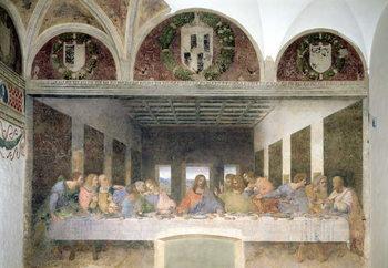 Reprodução do quadro The Last Supper, 1495-97 (fresco)