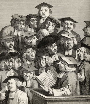 Reprodução do quadro The Lecture, from 'The Works of William Hogarth', published 1833