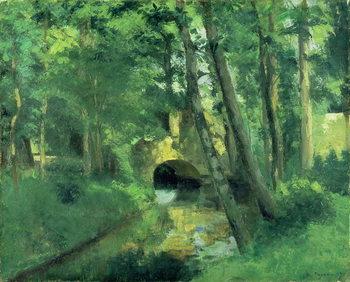 Reprodução do quadro The Little Bridge, Pontoise, 1875