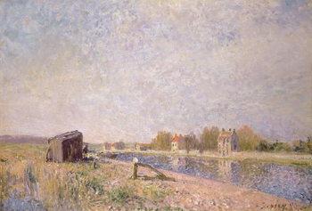 Reprodução do quadro The Loing at Saint-Mammes, 1884