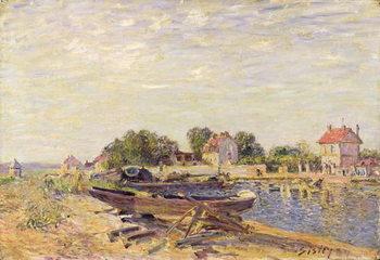 Reprodução do quadro The Loing at Saint-Mammes, 1885