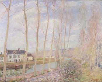 Reprodução do quadro The Loing Canal, 1892