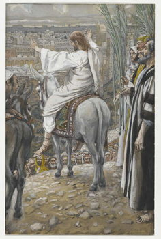 Reprodução do quadro The Lord Wept, illustration from 'The Life of Our Lord Jesus Christ', 1886-94