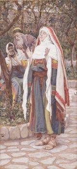 Reprodução do quadro The Magnificat, illustration for 'The Life of Christ', c.1886-94