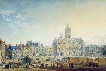 Reprodução do quadro The Main Square, Middelburg, 1812