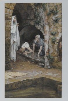 Reprodução do quadro The Man with an Infirmity, illustration from 'The Life of Our Lord Jesus Christ'