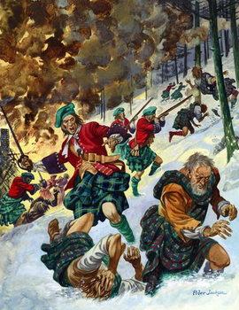 Reprodução do quadro The Massacre of Glencoe