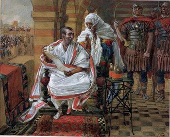Reprodução do quadro The Message of Pilate's Wife, illustration for 'The Life of Christ', c.1886-94