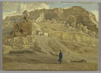 Reprodução do quadro The Mokattam from the Citadel of Cairo, illustration from 'The Life of Our Lord Jesus Christ'