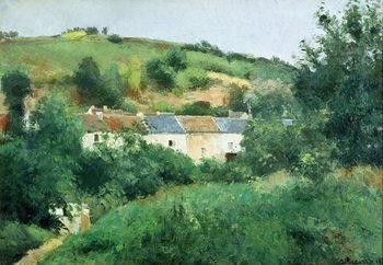 Reprodução do quadro The Path in the Village, 1875