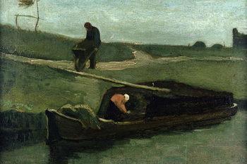 Reprodução do quadro The Peat Boat, 1883