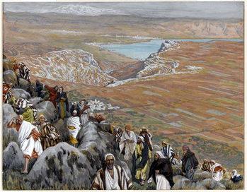 Reprodução do quadro The People Seek Christ to Make him King, illustration for 'The Life of Christ', c.1886-94