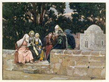 Reprodução do quadro The Pharisees and the Herodians, illustration for 'The Life of Christ', c.1886-96