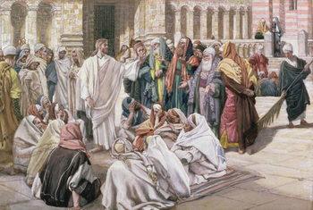 Reprodução do quadro The Pharisees Question Jesus, illustration for 'The Life of Christ', c.1886-96