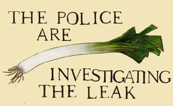 Reprodução do quadro The police are investigating the leak