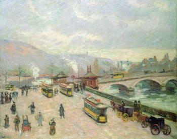 Reprodução do quadro The Pont Corneille at Rouen, 1898