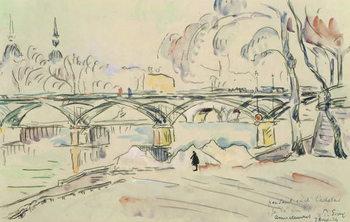 Reprodução do quadro The Pont des Arts, 1924