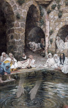 Reprodução do quadro The Pool of Bethesda, illustration for 'The Life of Christ', c.1886-94