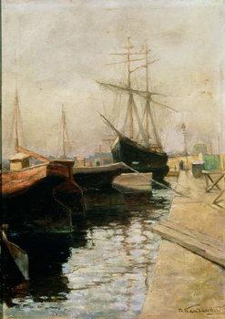 Reprodução do quadro The Port of Odessa, 1900