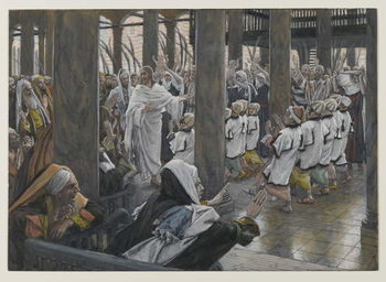 Reprodução do quadro The Procession in the Temple, illustration from 'The Life of Our Lord Jesus Christ', 1886-94