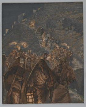 Reprodução do quadro The Procession of Judas, illustration from 'The Life of Our Lord Jesus Christ', 1886-94