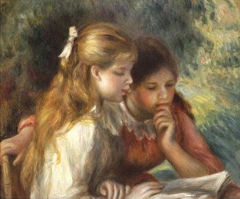 Reprodução do quadro The Reading, c.1890-95