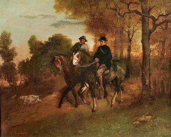 Reprodução do quadro The Return from the Hunt, 1857