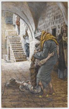 Reprodução do quadro The Return of the Prodigal Son, illustration for 'The Life of Christ', c.1886-96