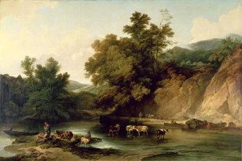 Reprodução do quadro The River Wye at Tintern Abbey, 1805
