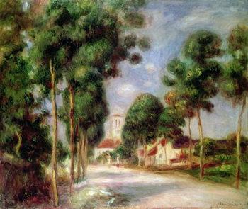 Reprodução do quadro The Road to Essoyes, 1901