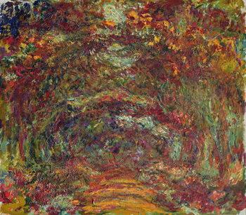 Reprodução do quadro The Rose Path, Giverny, 1920-22