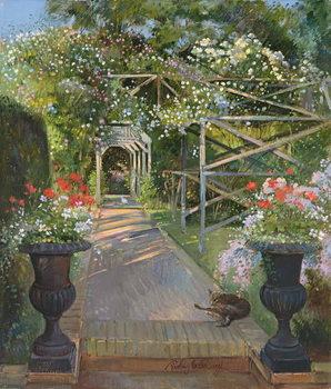 Reprodução do quadro The Rose Trellis, Bedfield, 1996