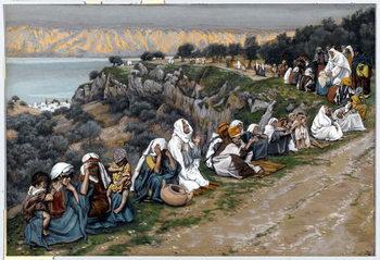 Reprodução do quadro The Sick Waiting for Jesus to Pass By, illustration for 'The Life of Christ', c.1884-96