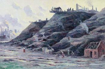 Reprodução do quadro The Slag Heap, 1896