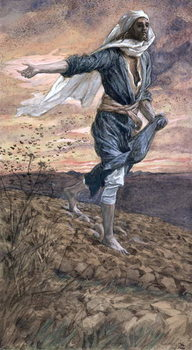 Reprodução do quadro The Sower, illustration for 'The Life of Christ', c.1886-94