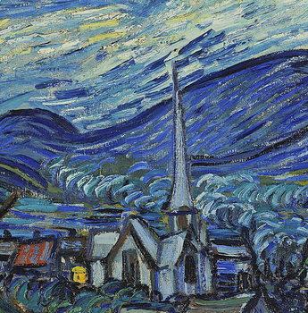 Reprodução do quadro The Starry Night, June 1889 (oil on canvas)