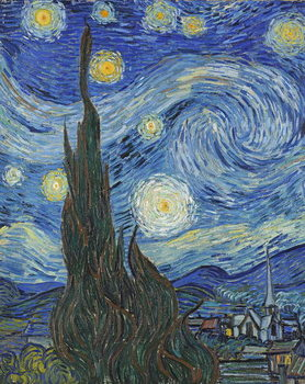 Reprodução do quadro The Starry Night, June 1889 (oil on canvas)