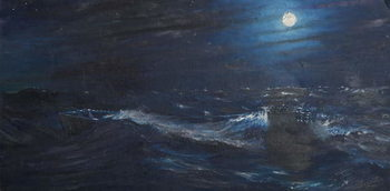 Reprodução do quadro The Tell tale Moon, 1995,