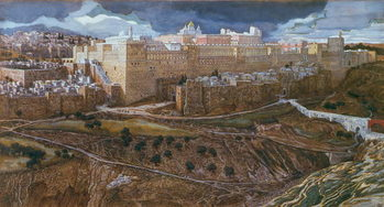 Reprodução do quadro The Temple of Herod in our Lord's Time, c.1886-96 (gouache on paperboard)